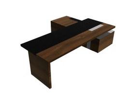Executive Desk Table 3d model preview