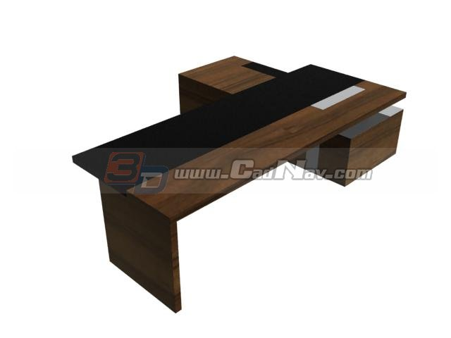 Executive Desk Table 3d rendering