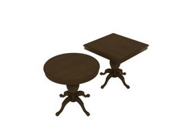 Side Table, End Table, Coffee Table 3d model preview