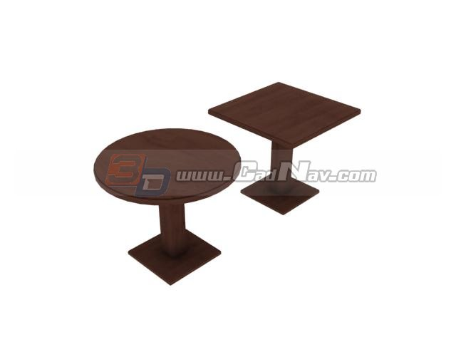 Corner table and side table 3d rendering