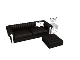 Corner sofa with Ottoman 3d preview