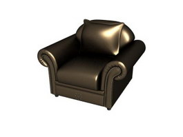 Hotel furniture leather sofa 3d model preview