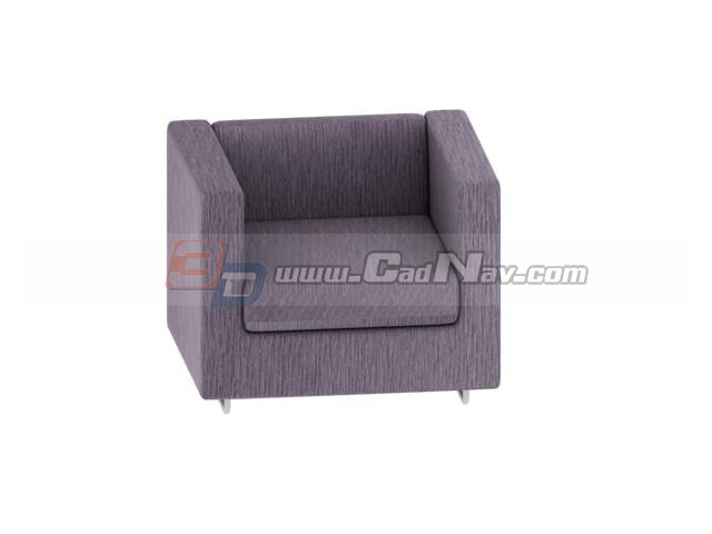 Luxurious sofa chairs for hotel 3d rendering