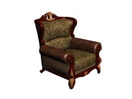 Antique victorian sofa 3d preview