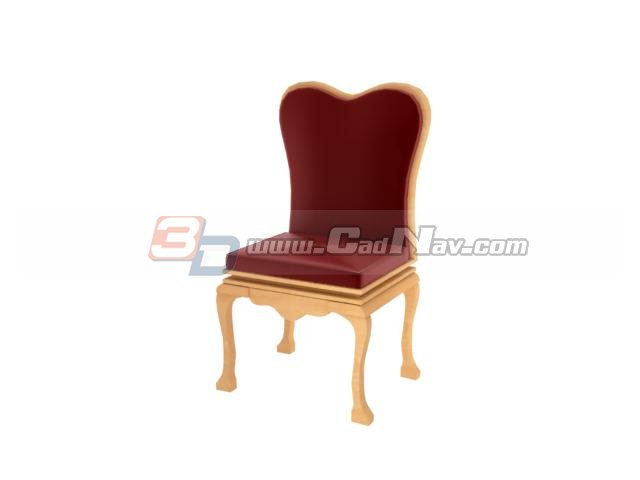 Tiffany chair for wedding 3d rendering