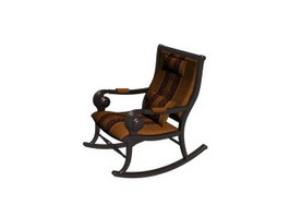 Wooden rocking chair 3d preview