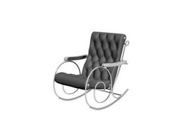 Metal Rocking Chair 3d preview