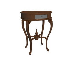 Antique wooden corner table 3d preview