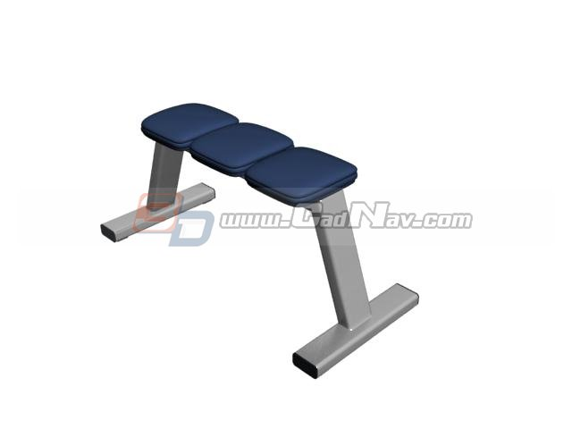 Bus station stool bench 3d rendering