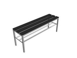 Metal waiting bench 3d preview