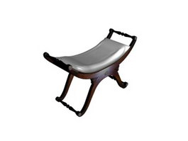 Saddle chair for living room 3d preview