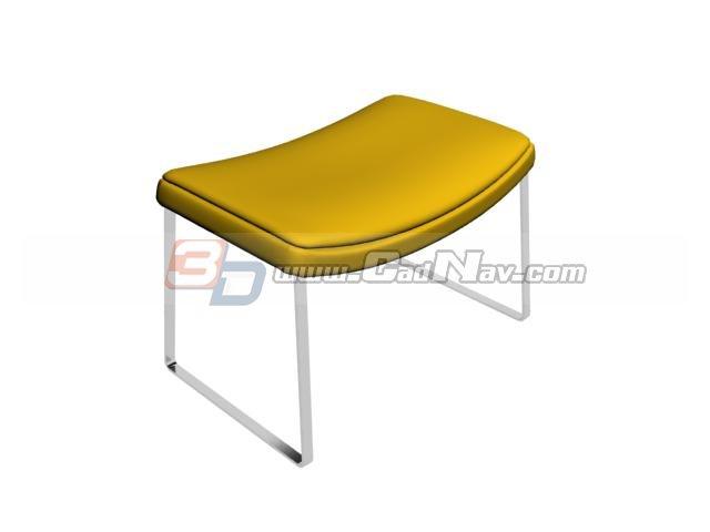 Saddle seat bar stools 3d rendering
