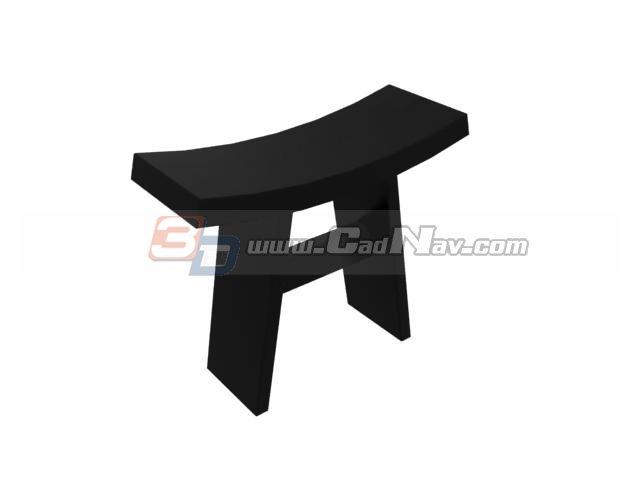 Wooden saddle stool 3d rendering