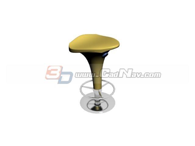 Floor mounted bar stools 3d rendering