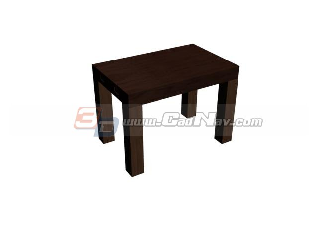 Chinese Square Wooden Stool 3d rendering