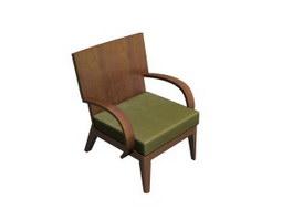 Garden leisure chair 3d model preview