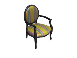 Wood barrel chair 3d preview