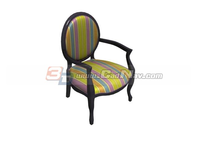 Wood barrel chair 3d rendering