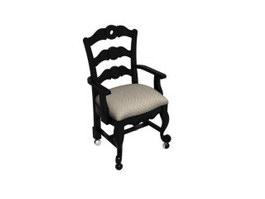 Antique Fauteuil Chair 3d preview