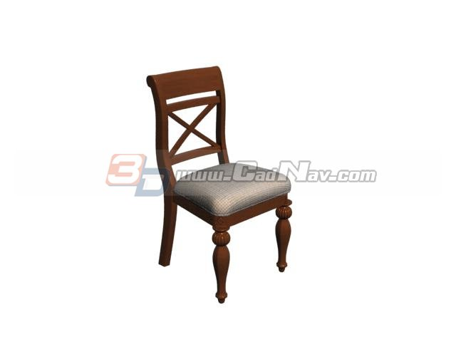Sheraton Dining Room Chair 3d rendering