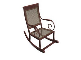 Rattan rocking chair 3d preview