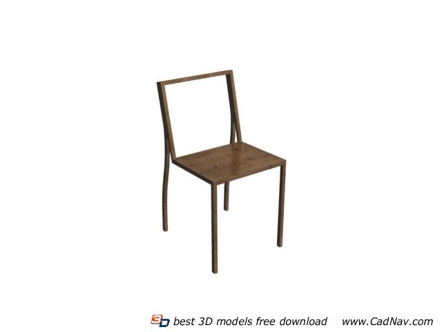 Dining chair wooden chair 3d rendering