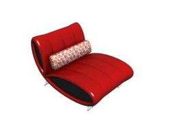 Japanese Floor Chair and seat cushion 3d preview