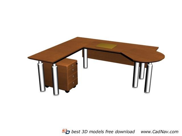 Office Work Station Staff Desk 3d rendering