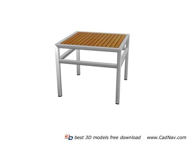 Garden bamboo table 3d rendering