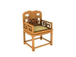 Chinese antique palace chair 3d preview