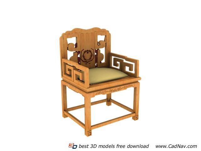 Chinese antique palace chair 3d rendering