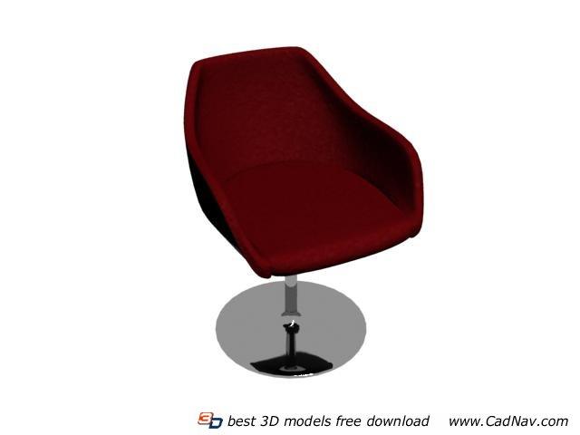 Eero Saarinen Tulip Armchair 3d rendering