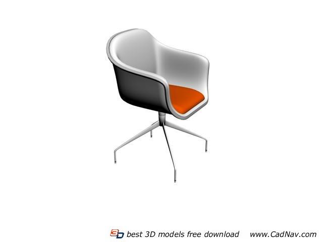Tulip Swivel Chair 3d rendering