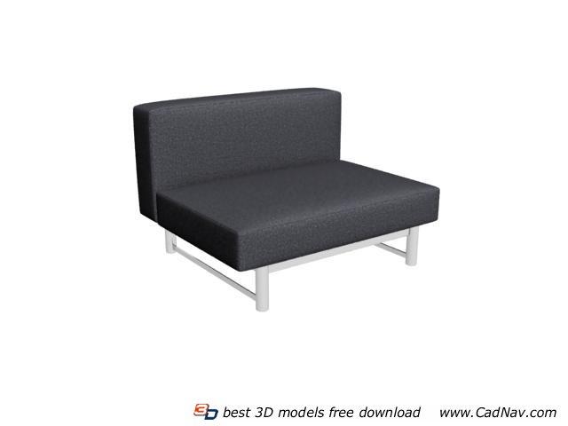 Floor seating sofa 3d rendering