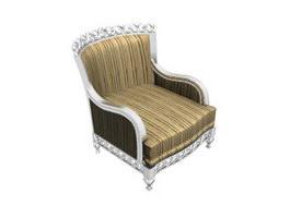 European style antique sofa 3d preview