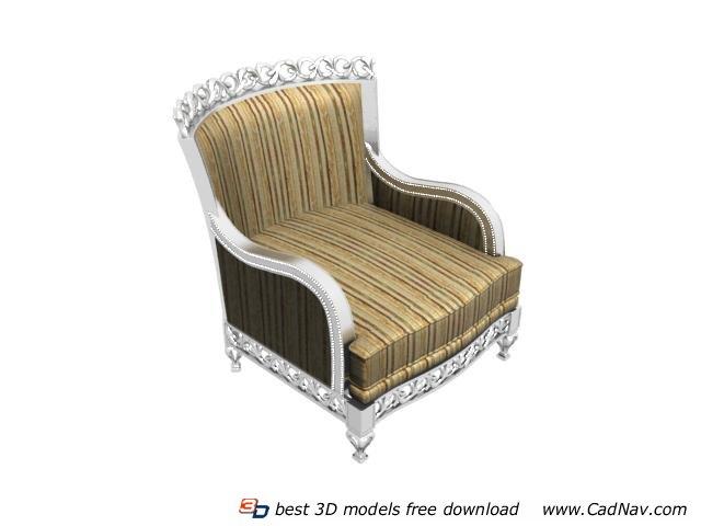 European style antique sofa 3d rendering