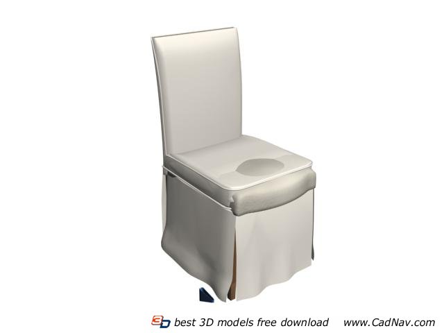 Hotel banquet dining chair 3d rendering