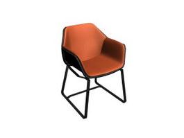 Rattan wicker tub chair 3d preview