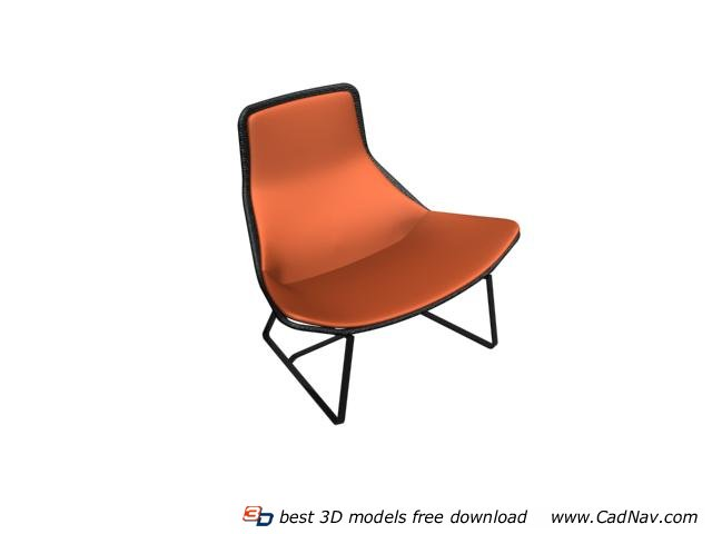 Outdoor Fabric Accent Chair 3d rendering