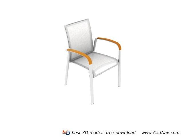 Outdoor plastic chair 3d rendering
