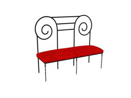 Wrought Iron stool 3d preview