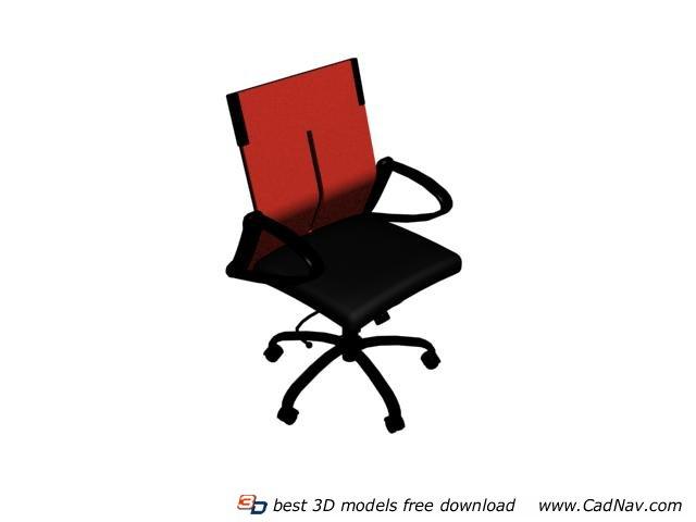 Lift swivel chair 3d rendering