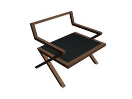 Classic wood corner chair 3d preview