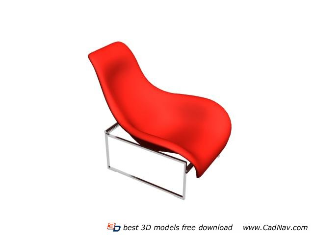 Outdoor garden lounge chair 3d rendering