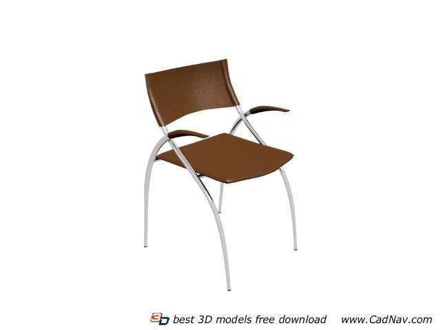 Leisure aluminum bistro chair 3d rendering