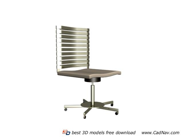 Straight back swivel chair 3d rendering