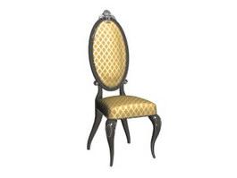 Antique dressing chair 3d preview