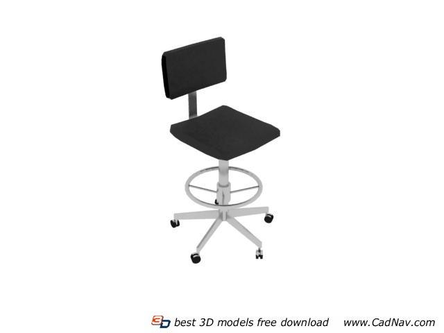 Swivel barstool bistro chair 3d rendering