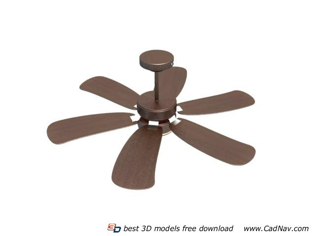 Electric ceiling fan 3d rendering