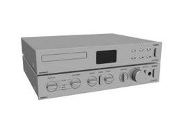 Professional Power Audio Amplifier 3d preview